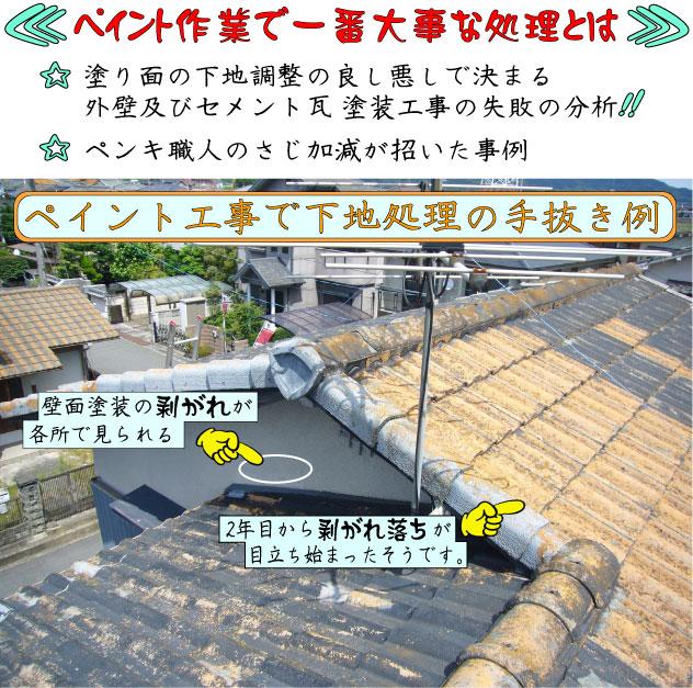 外壁・屋根塗装の失敗